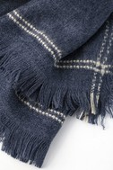 Season of Love Washed Navy Blue Scarf 2