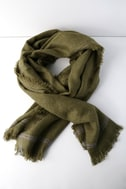 Season of Love Olive Green Scarf 1
