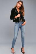 Style Icon Black Velvet Moto Jacket 1