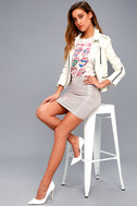 Leading Light Mauve and Silver Mini Skirt 4