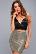 Leading Light Black and Gold Mini Skirt 2