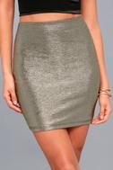 Leading Light Black and Gold Mini Skirt 3