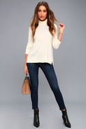 Ottawa Cream Turtleneck Sweater Top 2