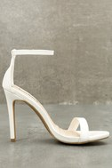 Loveliness White Ankle Strap Heels 3