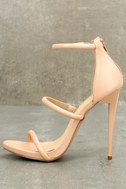 Amber Nude Ankle Strap Heels 1