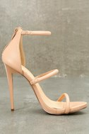 Amber Nude Ankle Strap Heels 3