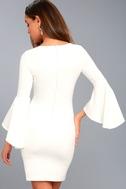 Gimme Some Flair White Flounce Sleeve Bodycon Dress 3
