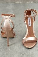 Lacey Rose Gold Leather Ankle Strap Heels 4