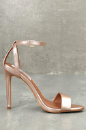 Lacey Rose Gold Leather Ankle Strap Heels 3