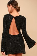 Smyth Bronze and Black Sequin Long Sleeve Mini Dress 3