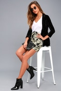 Dione Gold and Black Brocade Mini Skirt 2