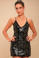 Sloan Black Sequin Mini Dress 2