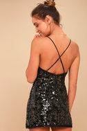 Sloan Black Sequin Mini Dress 3