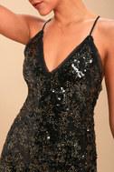 Sloan Black Sequin Mini Dress 4