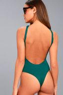 Temptation Teal Blue Backless Bodysuit 5