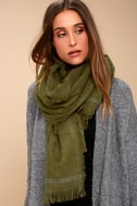 Season of Love Olive Green Scarf 5