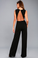 Refine and Poise Black Backless Wide-Leg Jumpsuit 7