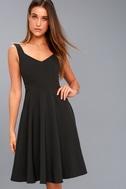 Gimme a Smooch Black Midi Skater Dress 6