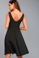 Gimme a Smooch Black Midi Skater Dress 7
