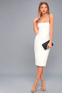 Captivated Love White Lace-Up Bodycon Dress 2