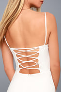 Captivated Love White Lace-Up Bodycon Dress 4
