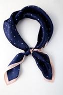Celestial Cutie Navy Blue Star Print Scarf 5