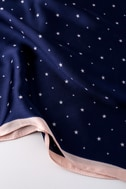 Celestial Cutie Navy Blue Star Print Scarf 3