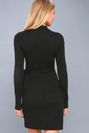 Literary Lover Black Wrap Sweater Dress 3