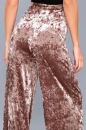 Corrinne Taupe Velvet Wide-Leg Pants 5