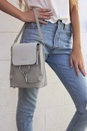 Sidewalk Stunner Grey Backpack 7