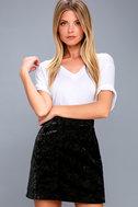 Urban Allure Black Crushed Velvet Mini Skirt 3