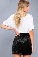 Urban Allure Black Crushed Velvet Mini Skirt 5