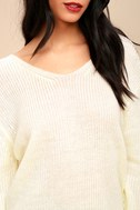 Wrapped in Warmth Cream Knot Back Sweater 1