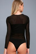 Move Over Black Long Sleeve Mesh Bodysuit 7
