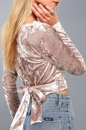 Wrap It Up Taupe Velvet Wrap Top 4