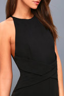 Elin Black Backless Midi Dress 5