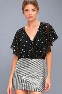 Saturday Night Diva Black and Silver Mini Skirt 2