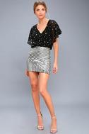 Saturday Night Diva Black and Silver Mini Skirt 1