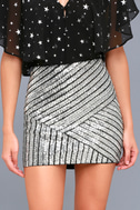Saturday Night Diva Black and Silver Mini Skirt 3