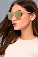 Up on High Gold and Pink Mirrored Sunglasses 1