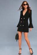 Manchester Black Flounce Sleeve Dress 2