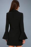 Manchester Black Flounce Sleeve Dress 3