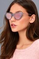Enchantress Matte Blue and Pink Mirrored Cat-Eye Sunglasses 1