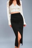 Sweet Darling Black Bodycon Midi Skirt 2