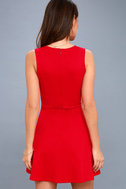 As Swoon As Possible Red Sleeveless Skater Dress 4