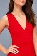As Swoon As Possible Red Sleeveless Skater Dress 5