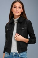 Ziggy Black Vegan Leather Bomber Jacket 2