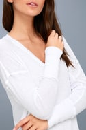 Sawyer White Long Sleeve Thermal Top 3