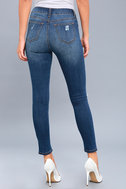 Real Deal Medium Wash Distressed High-Waisted Skinny Jeans 4