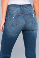 Real Deal Medium Wash Distressed High-Waisted Skinny Jeans 5